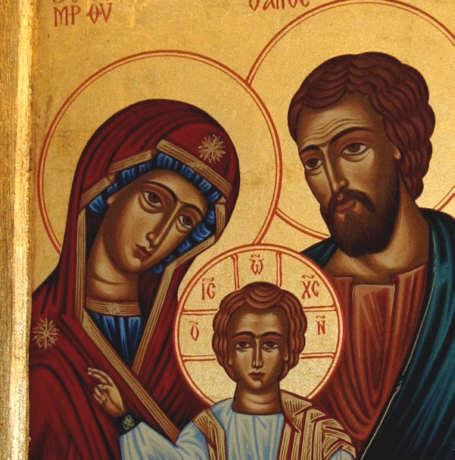 Duża Ikona Bizantyjska Na Desce święta Rodzina 2s Wyjątkowe
